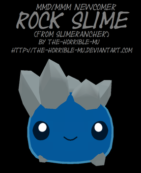 [MMD/M3 Newcomer] Rock Slime + DL by The-Horrible-Mu