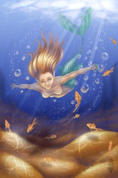Swimming with the fishes by Forace