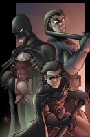 My 3 Robins by heck13r
