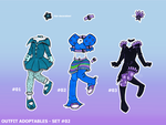 Outfit Adopts SET02 - 1/3 OPEN by tea-bug