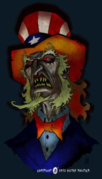 Zombie Uncle Sam by williamsquid