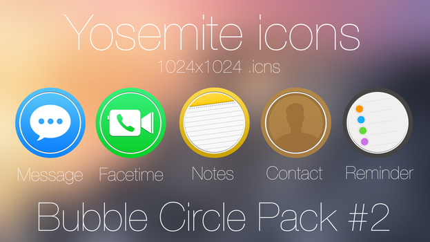 Bubble Circle Icon pack #2 by scafer31000