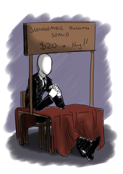 Slenderman's Hugging Stand by forte-girl7