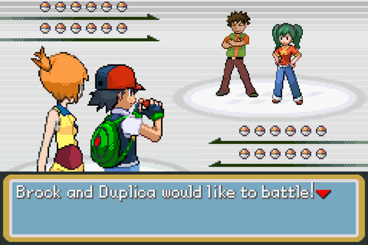 Ash and Misty vs Brock and Duplica by BeeWinter55