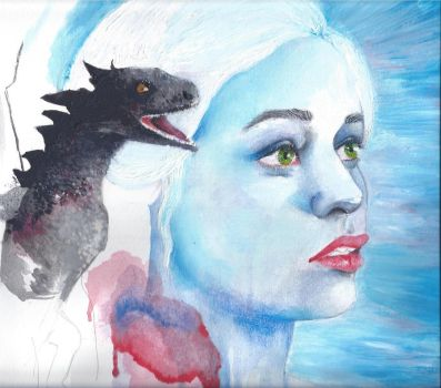 Unfinished-  Mother of dragons by Akane-OTaku