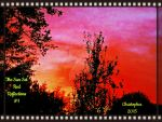 The Sun Set Red Reflections #1 in Photo Neg. Frame by HomeOfBluAndshadows