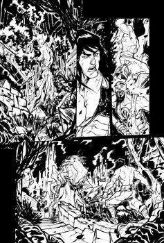 Conan the Barbarian - sample page ink by DenisM79