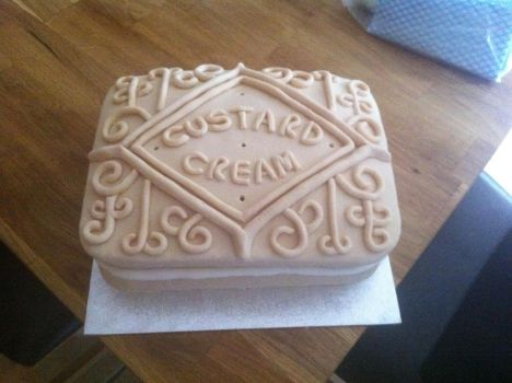 Custard Cream Birthday Cake by Stacey2512