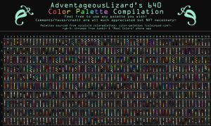 AdventageousLizard's 640 Color Palette Compilation by AdventageousLizards