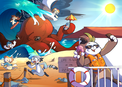 DTA- relaxing at the beach by PillowRabbit