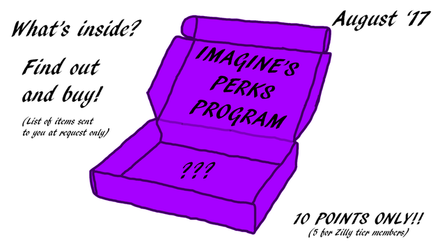 IPP (IMAGINE'S PERKS PROGRAM) Goody box - Aug '17 by G3T-ZILLYF1ED