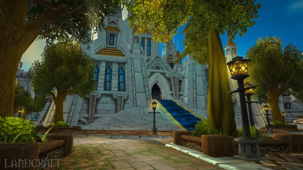 The Cathedral Square of Stormwind City by LandCraft