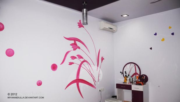 Floral boutique - Wall painting by imyanabdulla
