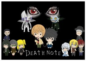 Death Note Chibi by quirkypink