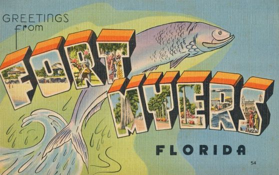 Large Letter Postcard - Fort Myers, FL by Yesterdays-Paper
