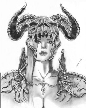 The Girl With The Horns by leocolorado