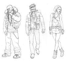 Character sketches by drisco