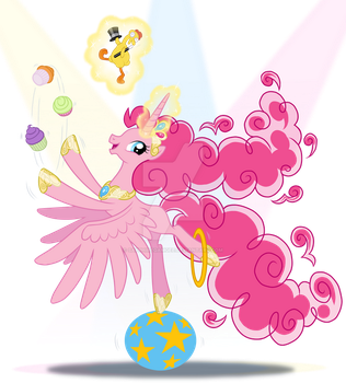 Alicorn Pinkie Pie by SapphireGamgee