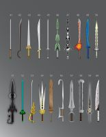 100 Swords: 41-60 by LucienVox