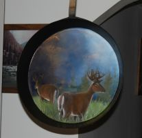 Mule Deer on frying pan. by ArT-Walker
