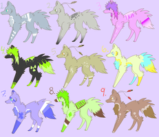2 Point Canine Adopts -OPEN- by SketchDumpZim