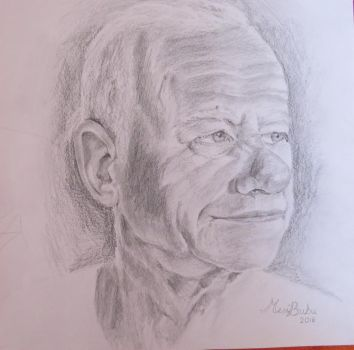 Portrait of my grandfather by MesiBubu