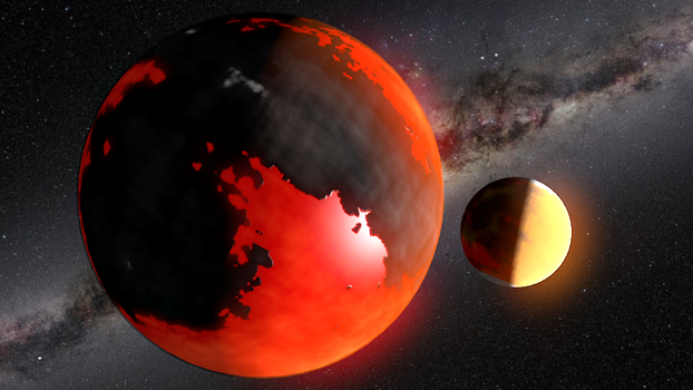 Planetscape: lava planet by KingSlime001