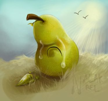 A Pear Watching Its Leaf Fall by Nalak-Bel