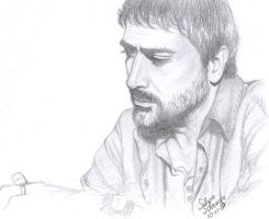 John Winchester Home Sketch by Sillie