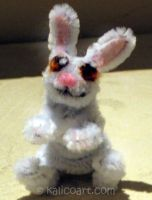 White Rabbit -- Pipe Cleaners by kalicothekat