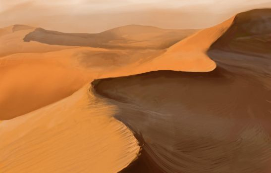 Sand Dunes Digital Painting by Liquos