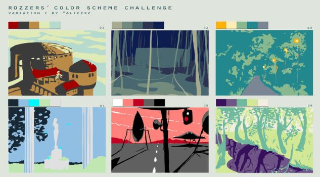 my landscapes in Color scheme meme VARIATION 1 by AnnaSzy
