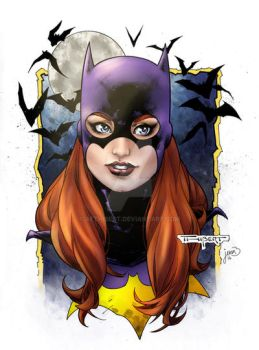 Old Batgirl commission, now with color. by aethibert