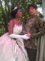 Silly Faces: Tiana and Naveen by GarnetMelody