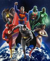 Justice League Unlimited by tricketitrick