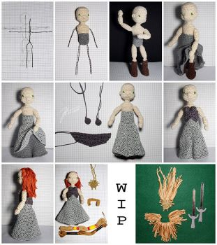 The Crocheted: Jadis, White Witch - WIP by janey-in-a-bottle
