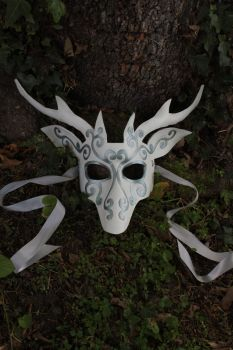 White Stag Leather Mask by SilverCicada