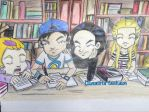 Code Lyoko: A moment in the study hall by artdemaurialashawn21