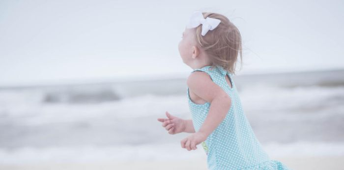 Vintage Beach Baby I by Grandlxves