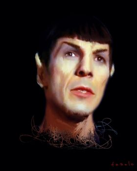 Mr Spock enjoys the amazing adventures (...) by davidefasoloart