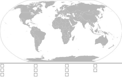 World Map Template (with key) by Anzac-A1