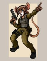 Rachel - IDF Mouse Soldier 02 by TheLivingShadow