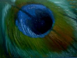 Feather Oil Painting - My First!! by SkiAr7sy