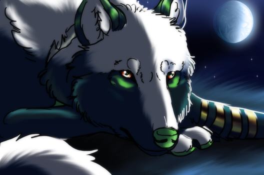 Patreon Monthly lottery 4 - The Blue moon by AzureHowlShilach