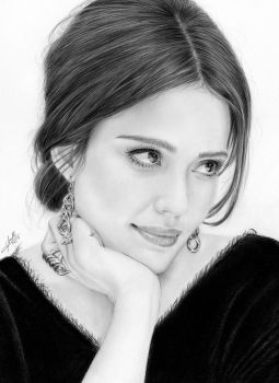 Drawing pencil Jessica Alba by iSaBeL-MR