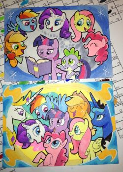 Friendship is Magic cards by shuffle001