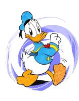 Donald Duck color by JuneDuck21