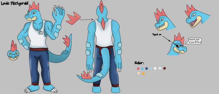 Louis the Feraligatr Full Ref by Draw-ze-Drawing