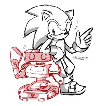 [CM]Rob and Sonic by FerniAngel