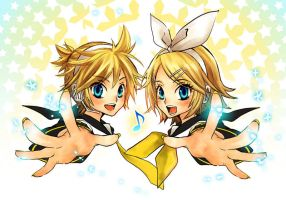 Kagamine Twins by Zoo-chan